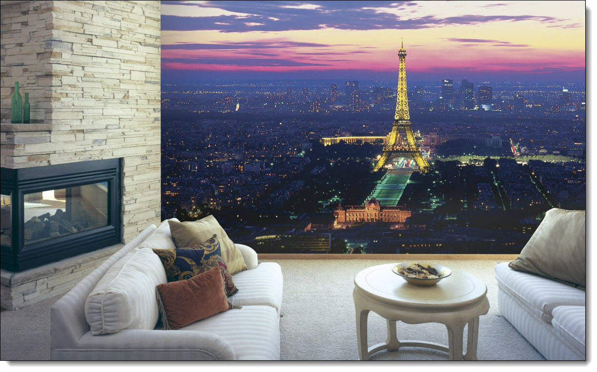 Paris Lights C837 Wall Mural Full Size Large Wall Murals