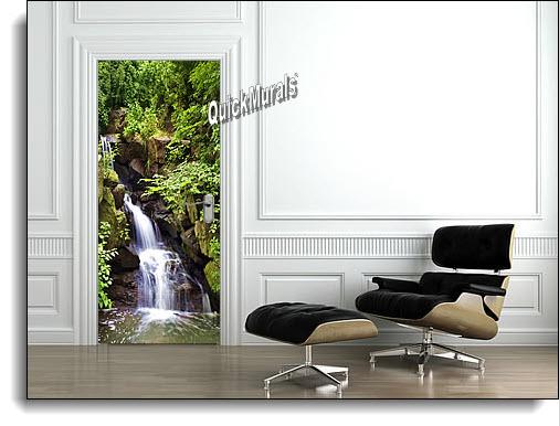 Spring Waterfall Canvas Door Mural DT155