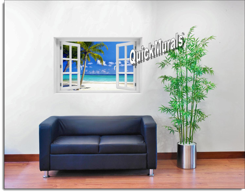 Tropical Ocean Window Mural
