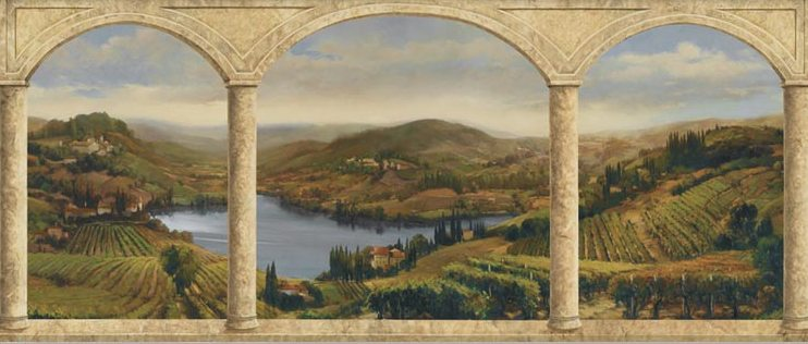 Stone Arches Vineyard Mural AU5421M