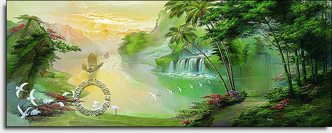 oriental paradise wall mural themuralstore com oriental wall scenery painters murals brighton sussex