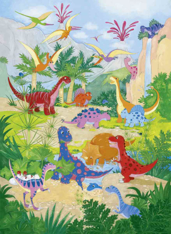 Dino World Wall Mural DM430