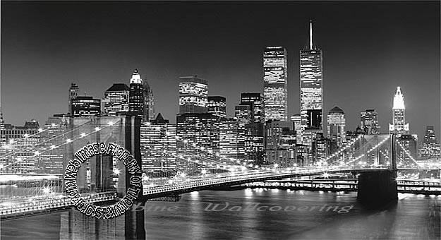 Brooklyn bridge wall mural for Brooklyn bridge black and white wall mural