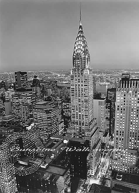 Chrysler building wall mural for Chrysler building mural