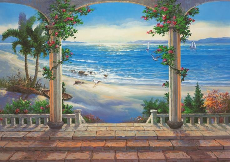 Ocean View Mural 1813 DS8013