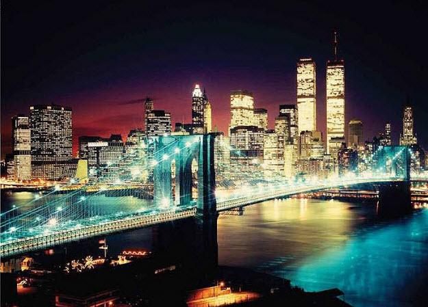 New York Bridge Wall Mural DS8071
