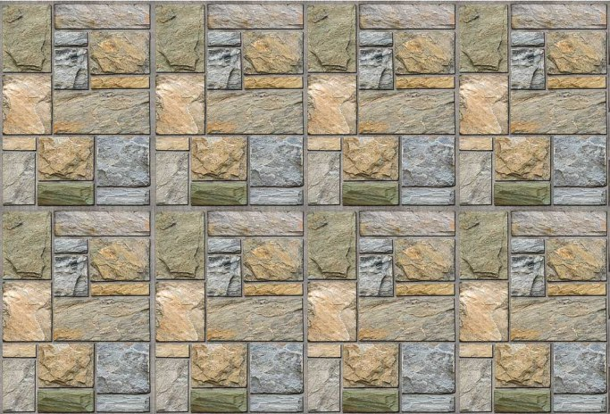 Colorful Mosaic Stone Wall Mural DS8107 (Repeating Pattern)