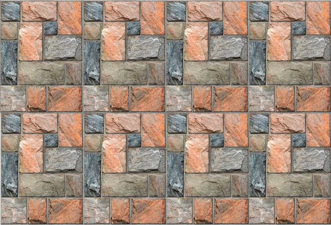 Colorful Mosaic Stone Wall Mural DS8108 (Repeating Pattern)