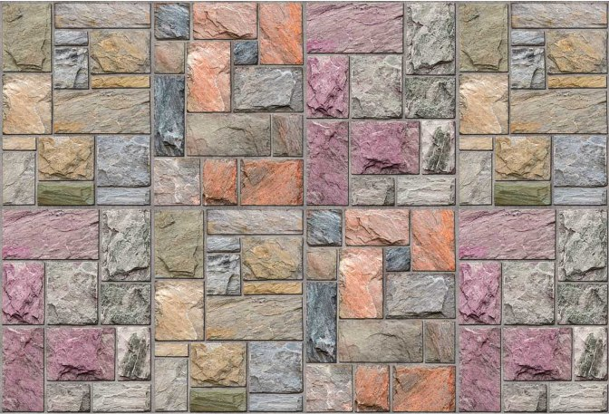 Colorful Mosaic Stone Wall Mural DS8109 (Repeating Pattern)