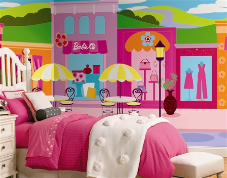 Barbie wall mural wall mural for Barbie princess giant wall mural