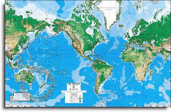 World Map Mural C810 Part 59