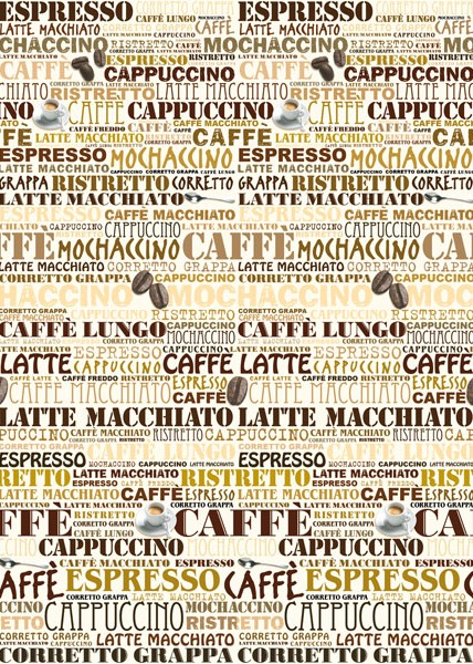 CAPPUCCINO CAFETERIA WALL MURAL