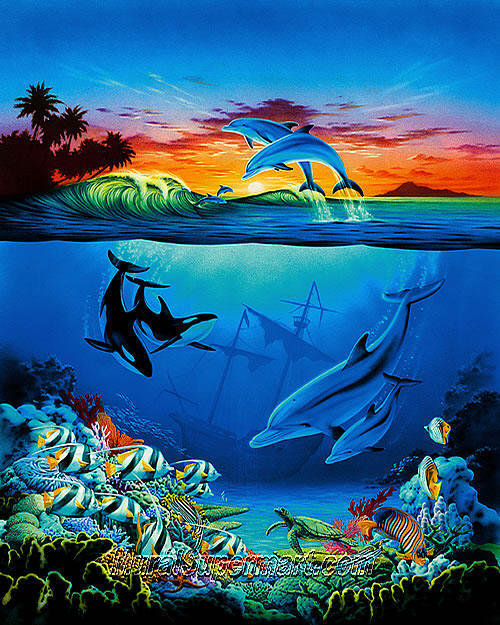 under the sea wall mural themuralstore com under the ocean