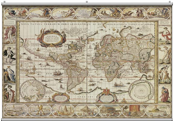 Antique map 1 wall mural for Antique map wall mural