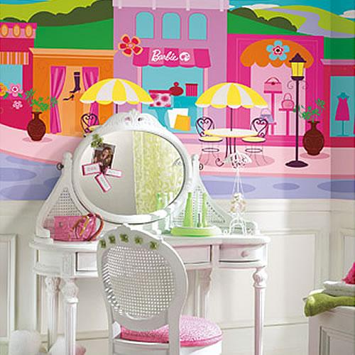 Barbie wall mural wall mural for Barbie wall mural