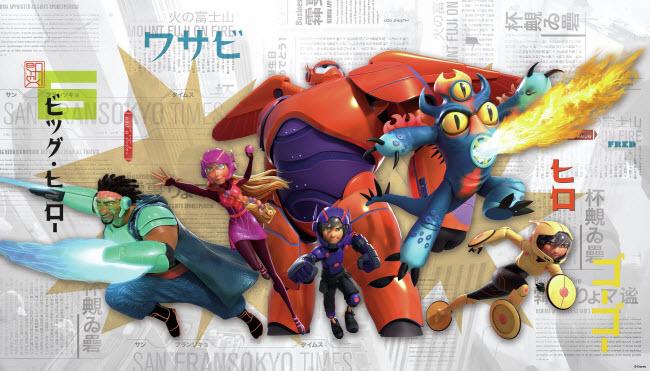 Big Heroes 6 Mural
