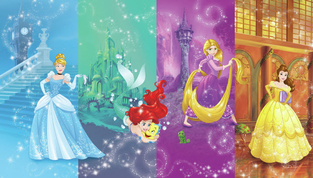 DISNEY PRINCESS SCENES XL MURAL