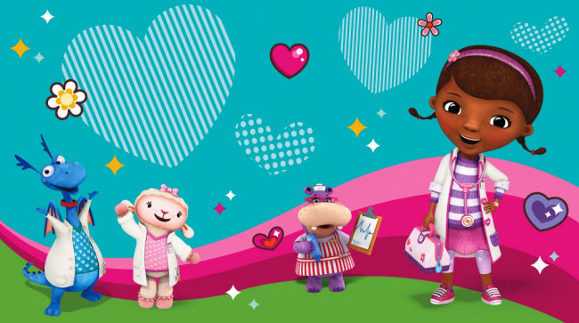 DOC MCSTUFFINS AND FRIENDS XL MURAL