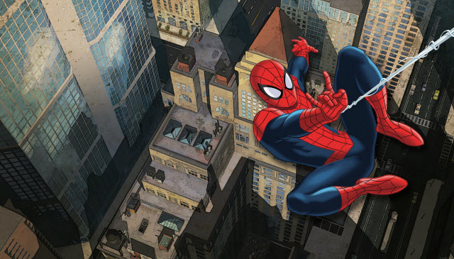 ULTIMATE SPIDERMAN CITYSCAPE XL MURAL