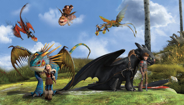 HOW TO TRAIN DRAGON MURAL