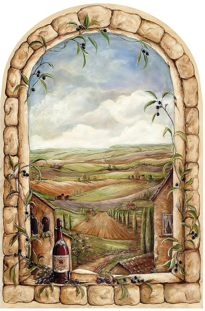 Tuscan View Wall Mural