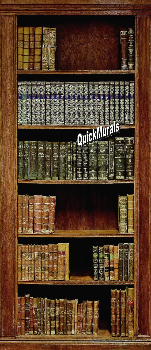 Stick On Wall Murals library wall mural - themuralstore