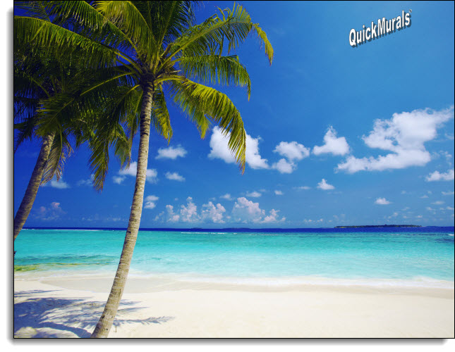 Tropical Ocean Peel U0026 Stick Canvas Wall Mural Part 48