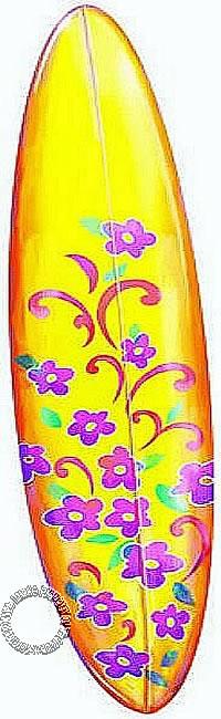Girls' Surfboard Mural YH1569M
