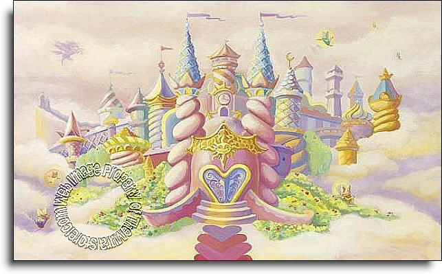 Princess castle c836 wall mural for Environmental graphics giant world map wall mural