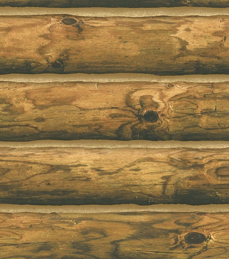 Log Cabin Wallpaper CH7980