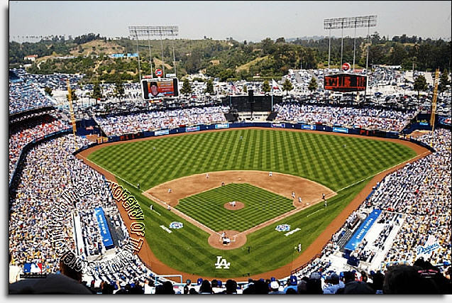 Los angeles dodgers dodger stadium wall mural for Dodger stadium wall mural