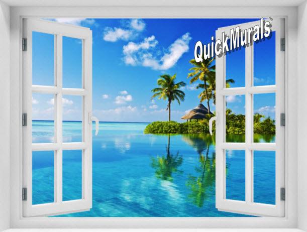 Oasis Window 1-Piece Peel & Stick Mural