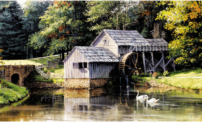 Old Mill Mural BJ1215M