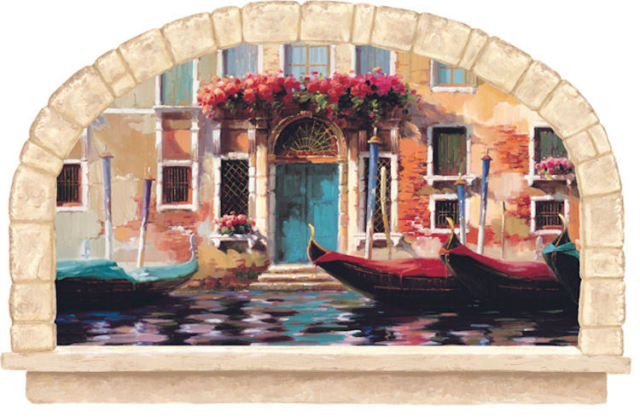 Gondolas of Venice Wall Decal KK4923M