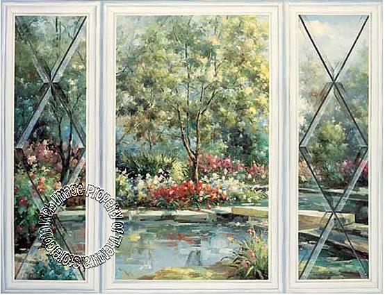 Stone Bridge Garden Mural 20273