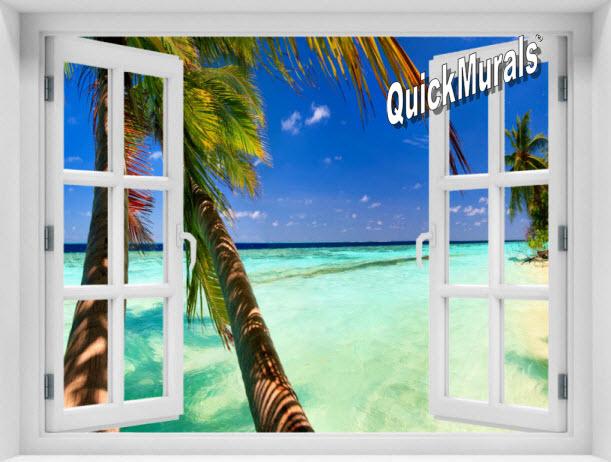 Tahiti Window 1-Piece Peel & Stick Mural