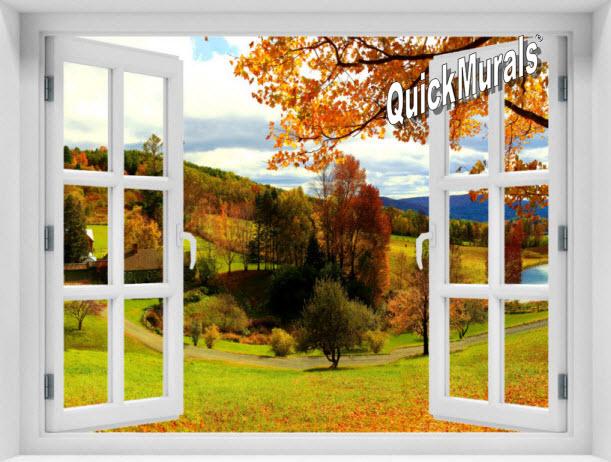 Vermont Farmhouse Window #2 One-Piece Peel & Stick Mural