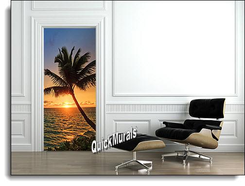 Palm Beach Sunset Door Mural Door Murals The Mural Store