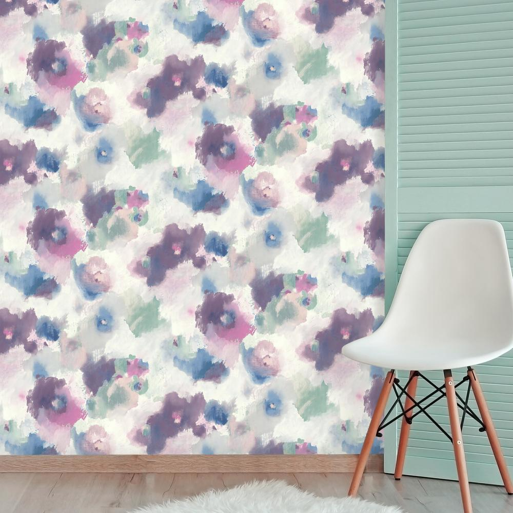 Impressionist Floral Peel Stick Wallpaper Peel And Stick Decals