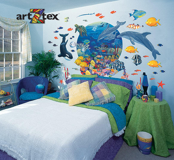 Under The Sea Mural Z20263 Room Setting