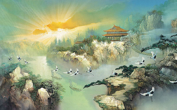 Shangri La 1449 Wall Mural Mid Size Wall Murals The Mural Store