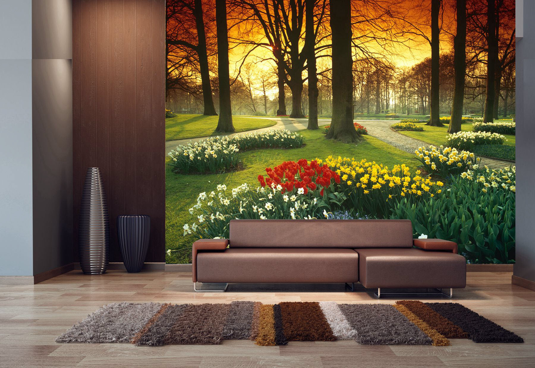 Floral Sunset Pr1857 Wall Mural Full Size Large Wall