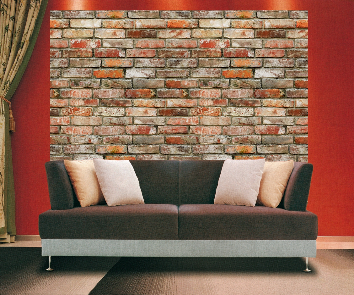 Backstein Brick Wall Wall Mural DS8096 Roomsetting