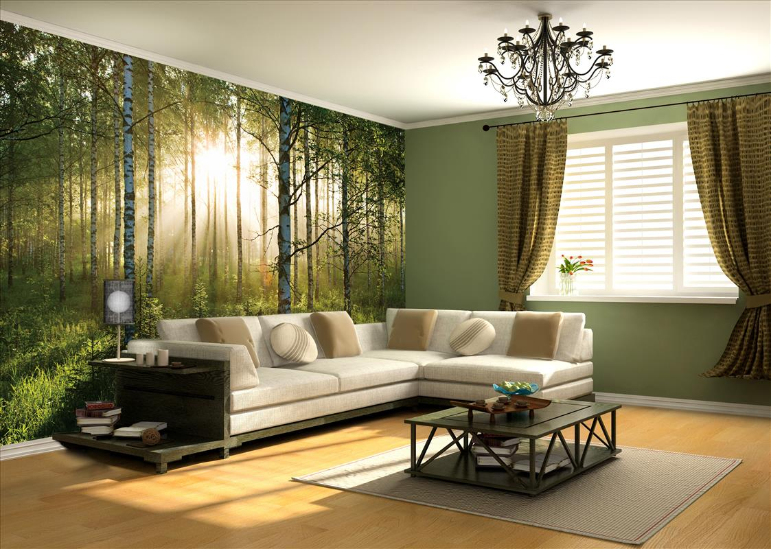 Sunlight Forest Mural PR1855