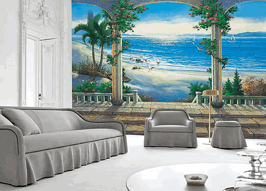 Ocean View Mural 1813 DS8013 Roomsetting