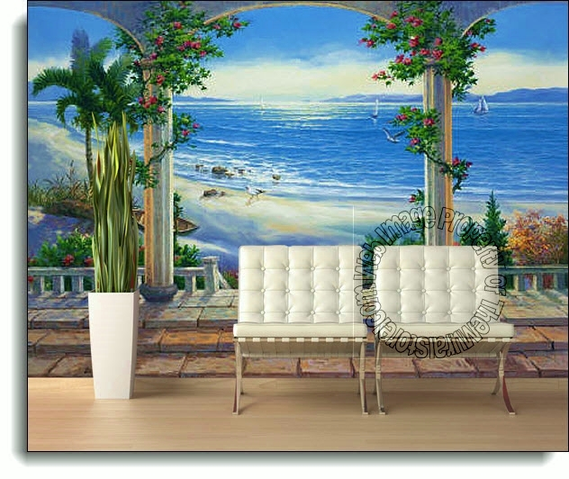 Ocean View Mural 1813 DS8013 Room