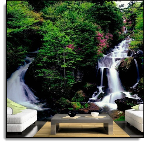 Twin Falls Mural PR1840 DS8040 roomsetting