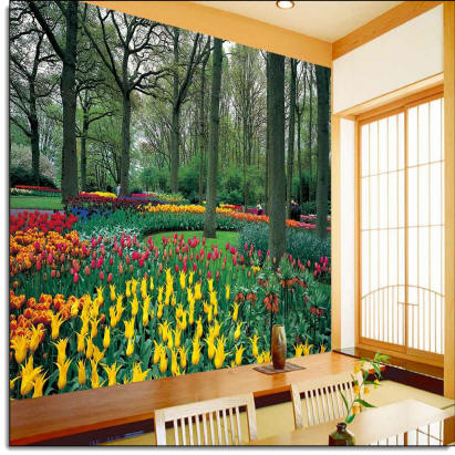 Tulip Garden Wall Mural DS8042 Full Size Large Wall Murals The