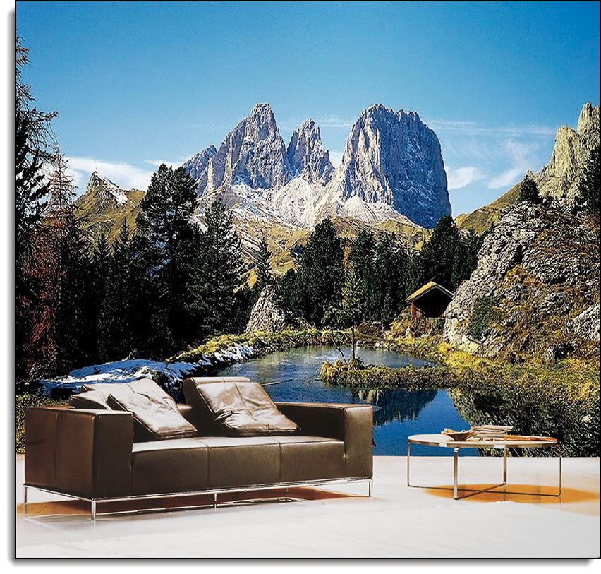 Dolomite Alps Italy Wall Mural Ds8077 Full Size Large