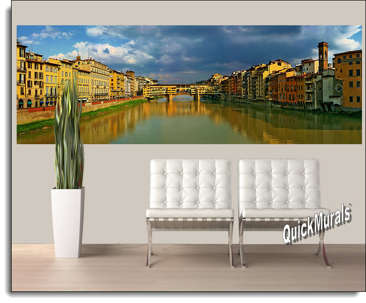 Florence Italy wall mural Roomsetting